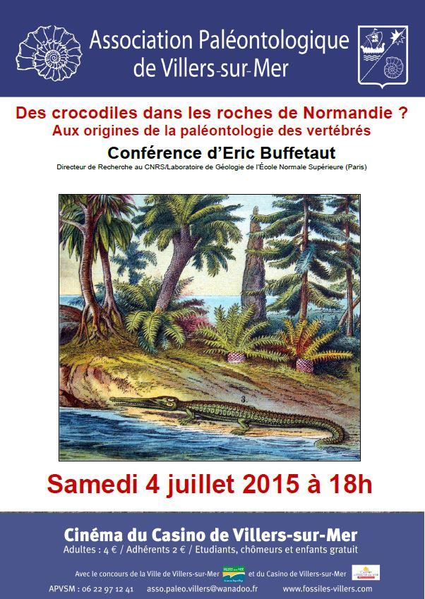 Des crocodiles dans les roches de Normandie ?
