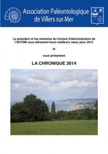 Chronique 2014