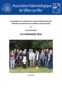 Chronique 2015